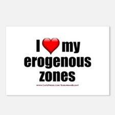 """Love My Erogenous Zones"" Postcards (Package of 8)"
