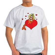Cute Lobster Girl on Heart T-Shirt