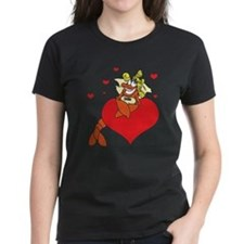 Cute Lobster Girl on Heart Tee