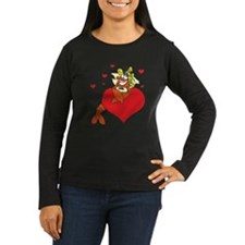 Cute Lobster Girl on Heart T-Shirt