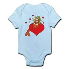 Cute Lobster Girl on Heart Infant Bodysuit