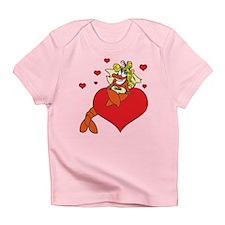 Cute Lobster Girl on Heart Infant T-Shirt
