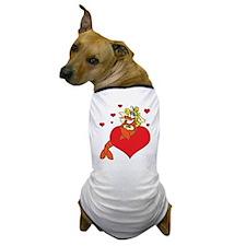 Cute Lobster Girl on Heart Dog T-Shirt