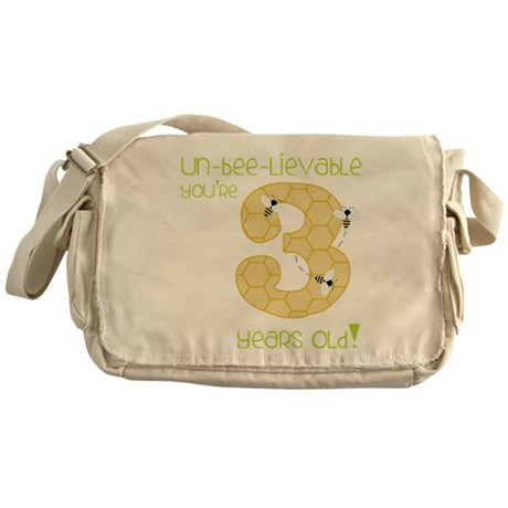 3 Year Old Honey Bee Messenger Bag