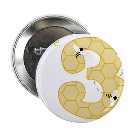 "3 Year Old Honey Bee 2.25"" Button"