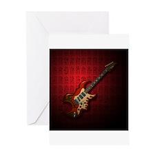 KuuMa Guitar 01 (R) Greeting Card