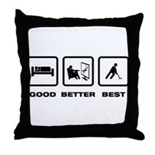 Field Hockey Throw Pillow
