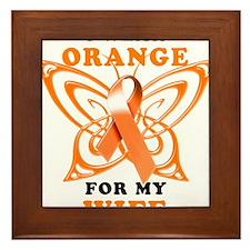 I Wear Orange for my Wife Framed Tile