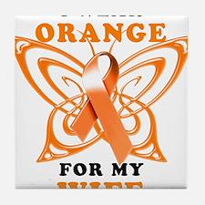 I Wear Orange for my Wife Tile Coaster