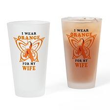 I Wear Orange for my Wife Drinking Glass