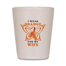 I Wear Orange for my Wife Shot Glass