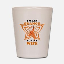 I Wear Orange for my Wife Shot Glass
