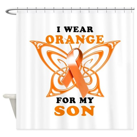 I Wear Orange for my Son Shower Curtain