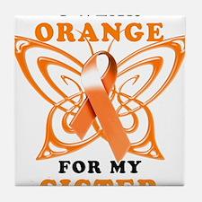 I Wear Orange for my Sister Tile Coaster