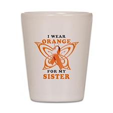 I Wear Orange for my Sister Shot Glass