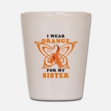 I Wear Orange for my Sister Shot Glass