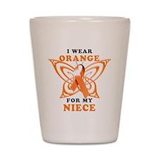 I Wear Orange for my Niece Shot Glass