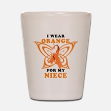 I Wear Orange for my Niece Shot Glass