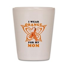I Wear Orange for my Mom Shot Glass