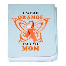 I Wear Orange for my Mom baby blanket