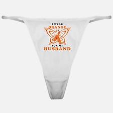 I Wear Orange for my Husband Classic Thong