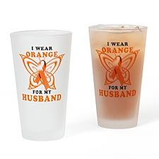 I Wear Orange for my Husband Drinking Glass
