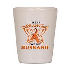 I Wear Orange for my Husband Shot Glass