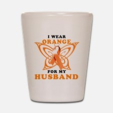 I Wear Orange for my Husband Shot Glass
