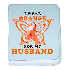 I Wear Orange for my Husband baby blanket
