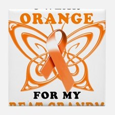 I Wear Orange for my Great Grandma Tile Coaster