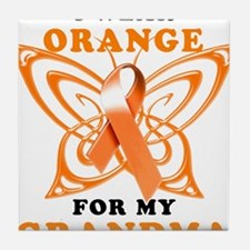 I Wear Orange for my Grandma Tile Coaster