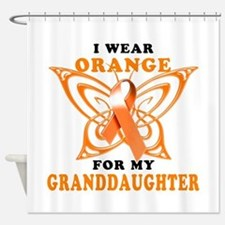 I Wear Orange for my Granddaughter Shower Curtain