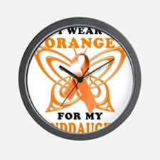 I Wear Orange for my Granddaughter Wall Clock