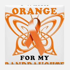 I Wear Orange for my Granddaughter Tile Coaster