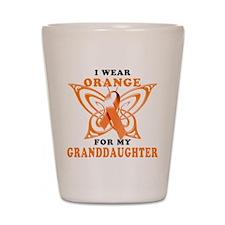 I Wear Orange for my Granddaughter Shot Glass