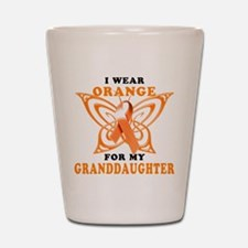 I Wear Orange for my Granddaughter Shot Glass