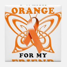 I Wear Orange for my Friend Tile Coaster