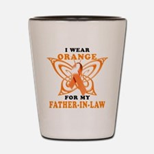 I Wear Orange for my Father in Law Shot Glass
