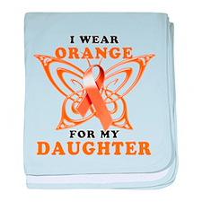 I Wear Orange for my Daughter baby blanket