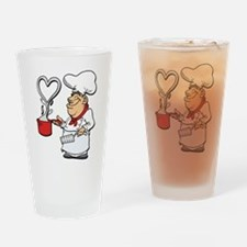 Cooking up Love Drinking Glass