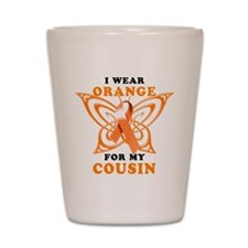 I Wear Orange for my Cousin Shot Glass