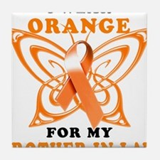 I Wear Orange for my Brother in Law Tile Coaster