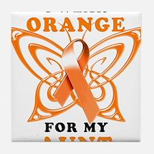 I Wear Orange for my Aunt Tile Coaster