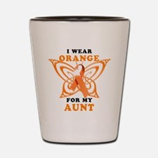 I Wear Orange for my Aunt Shot Glass