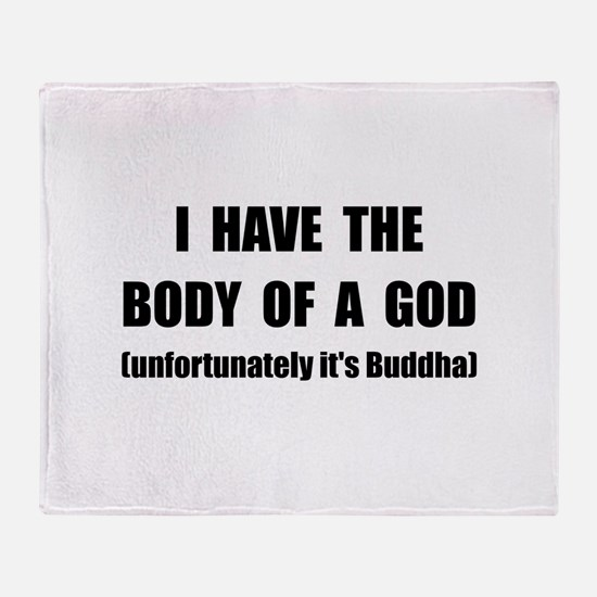 Buddha Body Throw Blanket