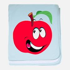 Happy Apple baby blanket