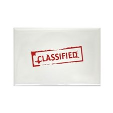 Classified Stamp Rectangle Magnet (100 pack)