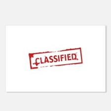 Classified Stamp Postcards (Package of 8)