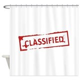 Spy agent secret Shower Curtains