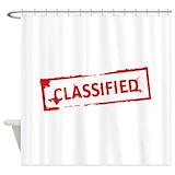 Spy agent secret Shower Curtains